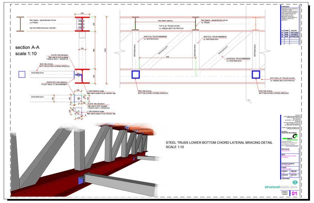 Steel Truss Lower Bottom Chord Lateral Bracing Restraint