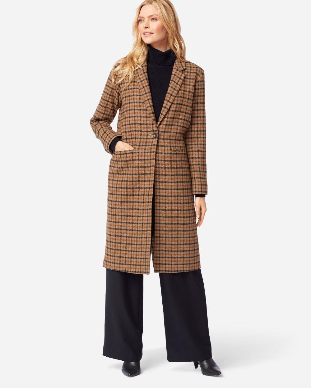 Women S Hudson Long Coat Pendleton Long Coat Fashion Coat [ 1250 x 1000 Pixel ]