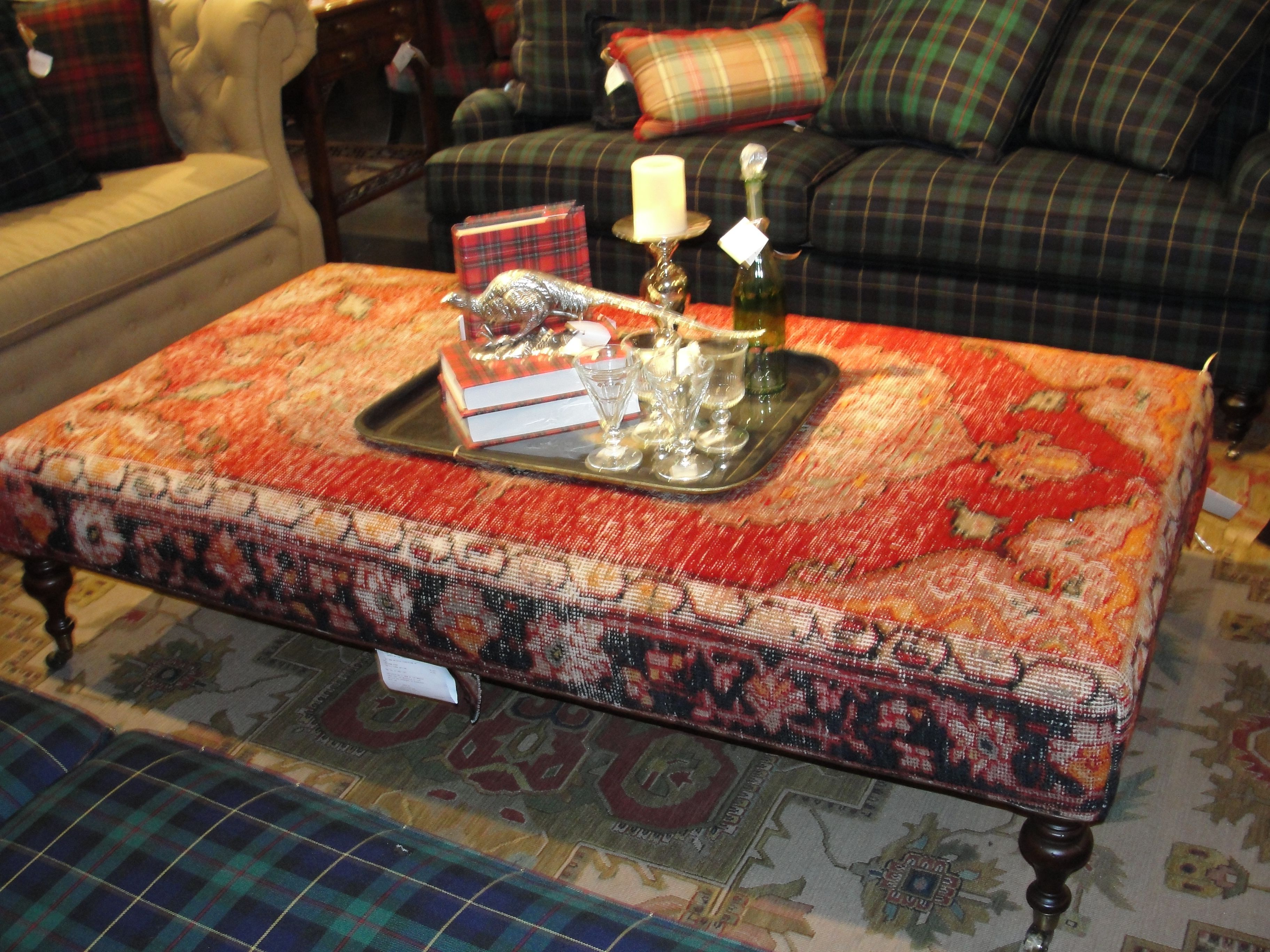 Antique Rug Remnant Ottoman Upholstery Inspiration Pinterest Ottomans Large Ottoman And