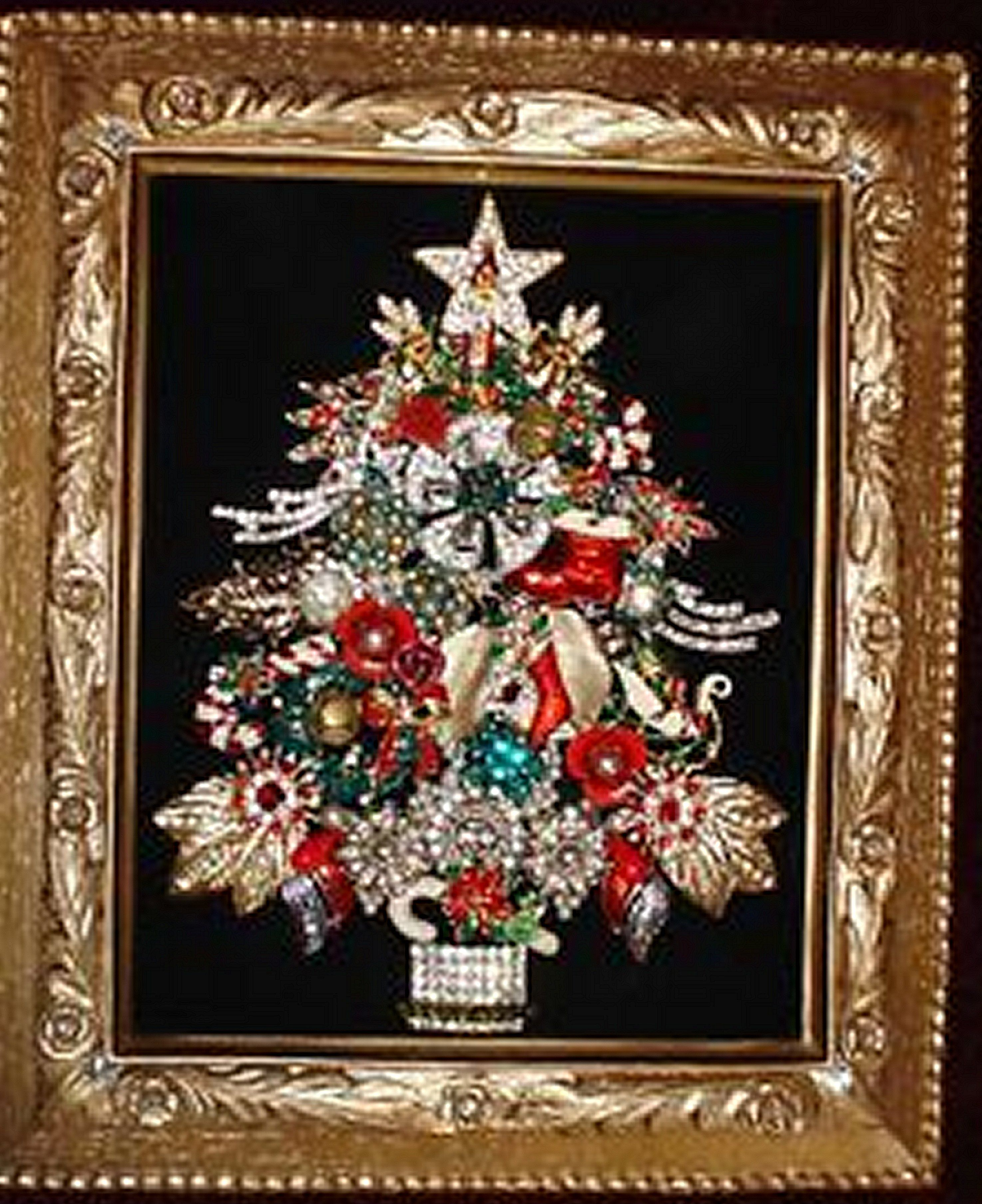 Jeweled Xmas tree. | Christmas Cheer! | Pinterest | Xmas tree, Xmas ...