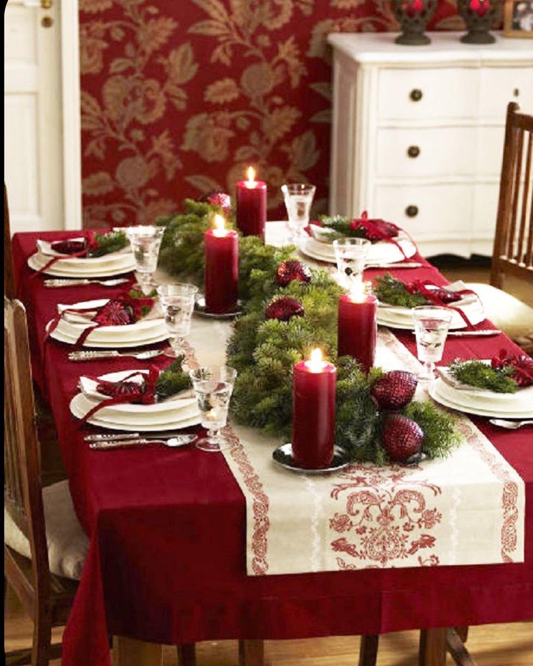 Christmas Christmas Dining Table Christmas Table Decorations Christmas Centerpieces
