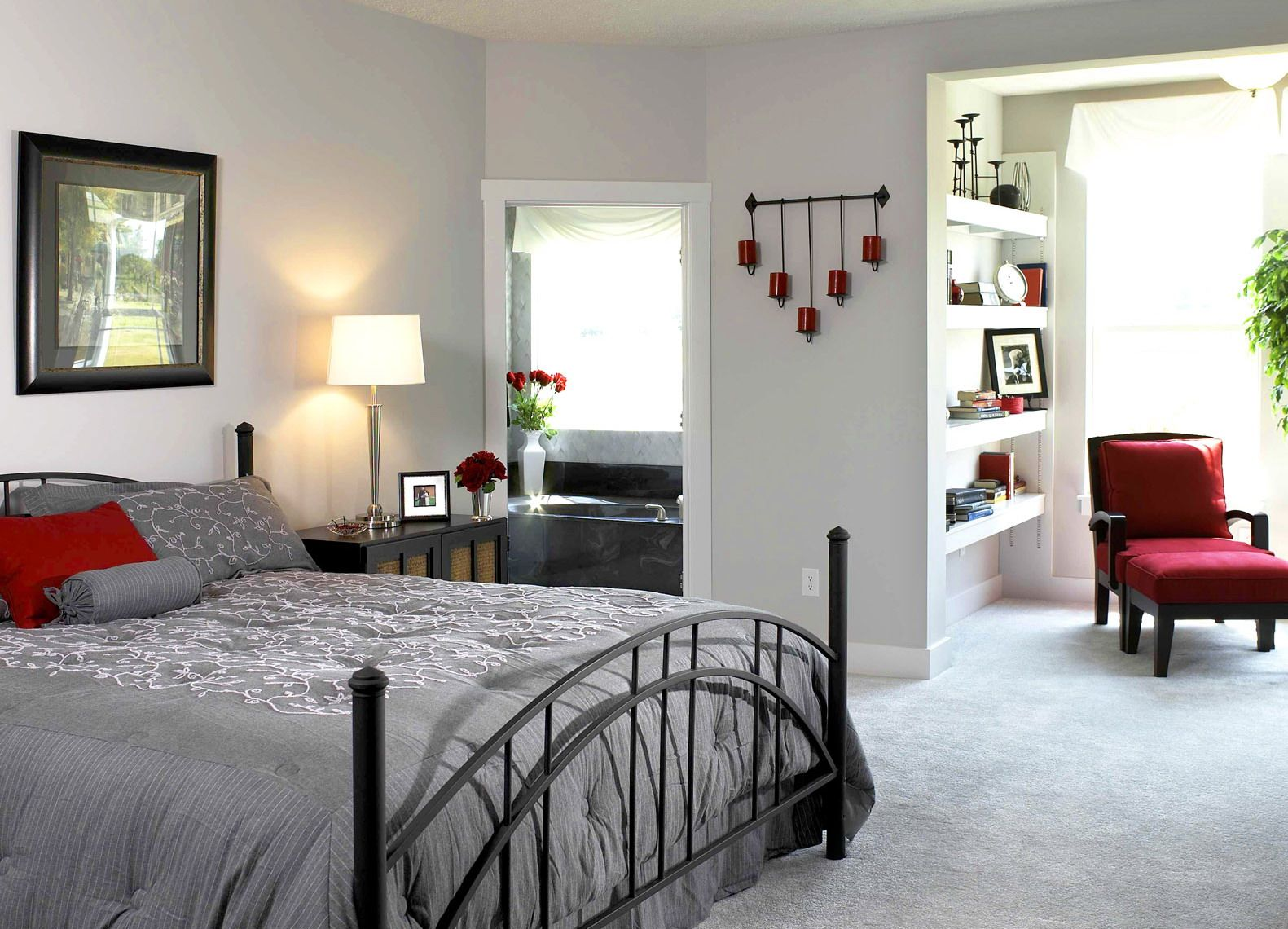 Bedroom color ideas grey and red - 17 Best Images About Red Gray On Bedrooms Grey