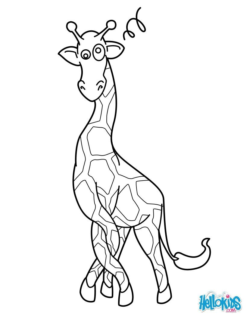 With A Little Imagination Color This Giraffe In A Twist Coloring