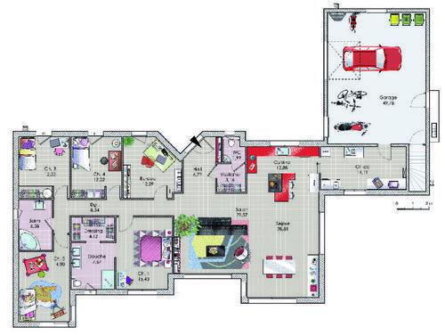 Une maison spacieuse et moderne - maison contemporaine plan gratuit