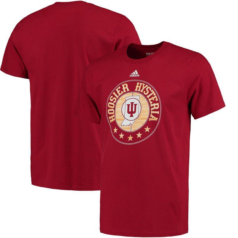 Indiana Hoosiers adidas Hysteria Center Court T-Shirt - Crimson