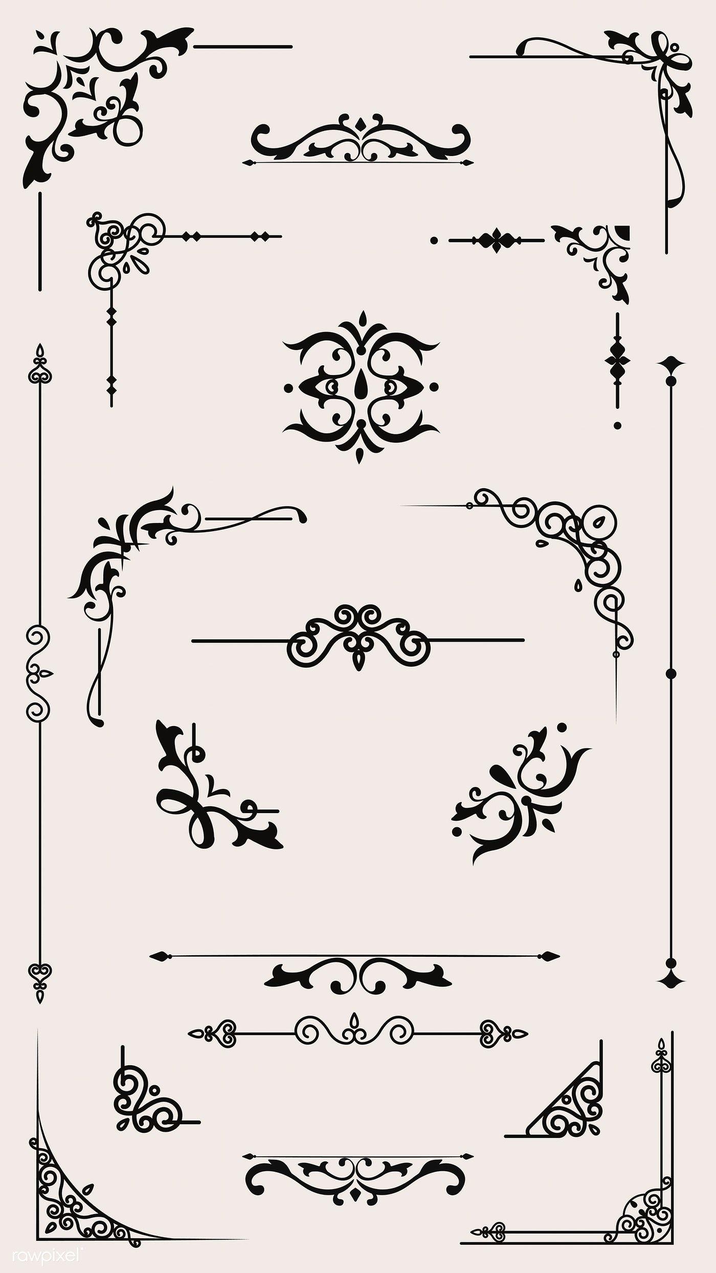 Download premium vector of Vintage border design element