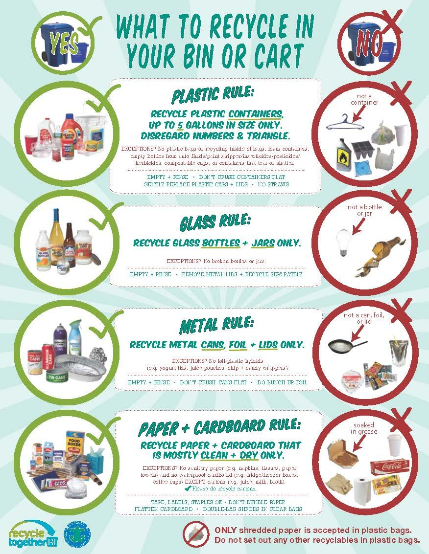 How To Recycle Right In Ri What To Recycle Bottles And Jars Recycling