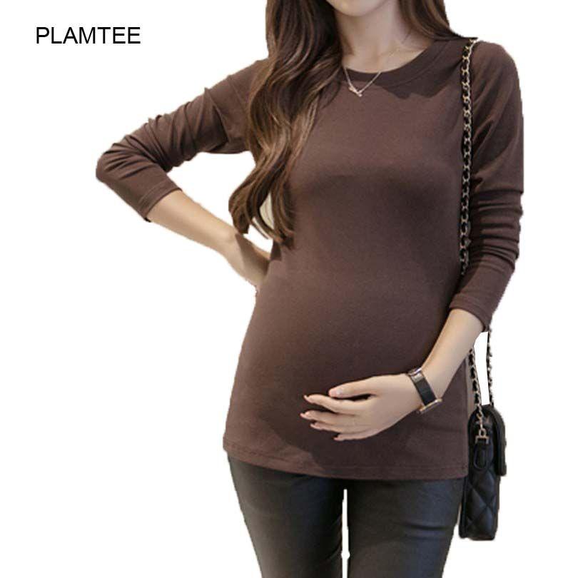 0fa54127a Aliexpress.com  Comprar Otoño Tops Ropa para Mujeres Embarazadas de la  Camiseta de Maternidad