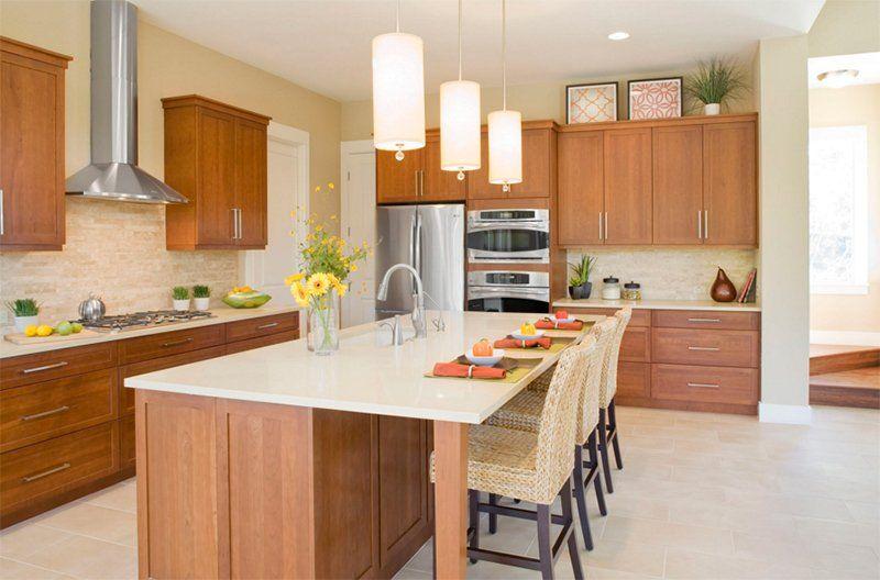25 Minimalist Shaker Kitchen Cabinet Designs Home Design Lover Cherry Cabinets Kitchen Shaker Style Kitchen Cabinets Kitchen Design