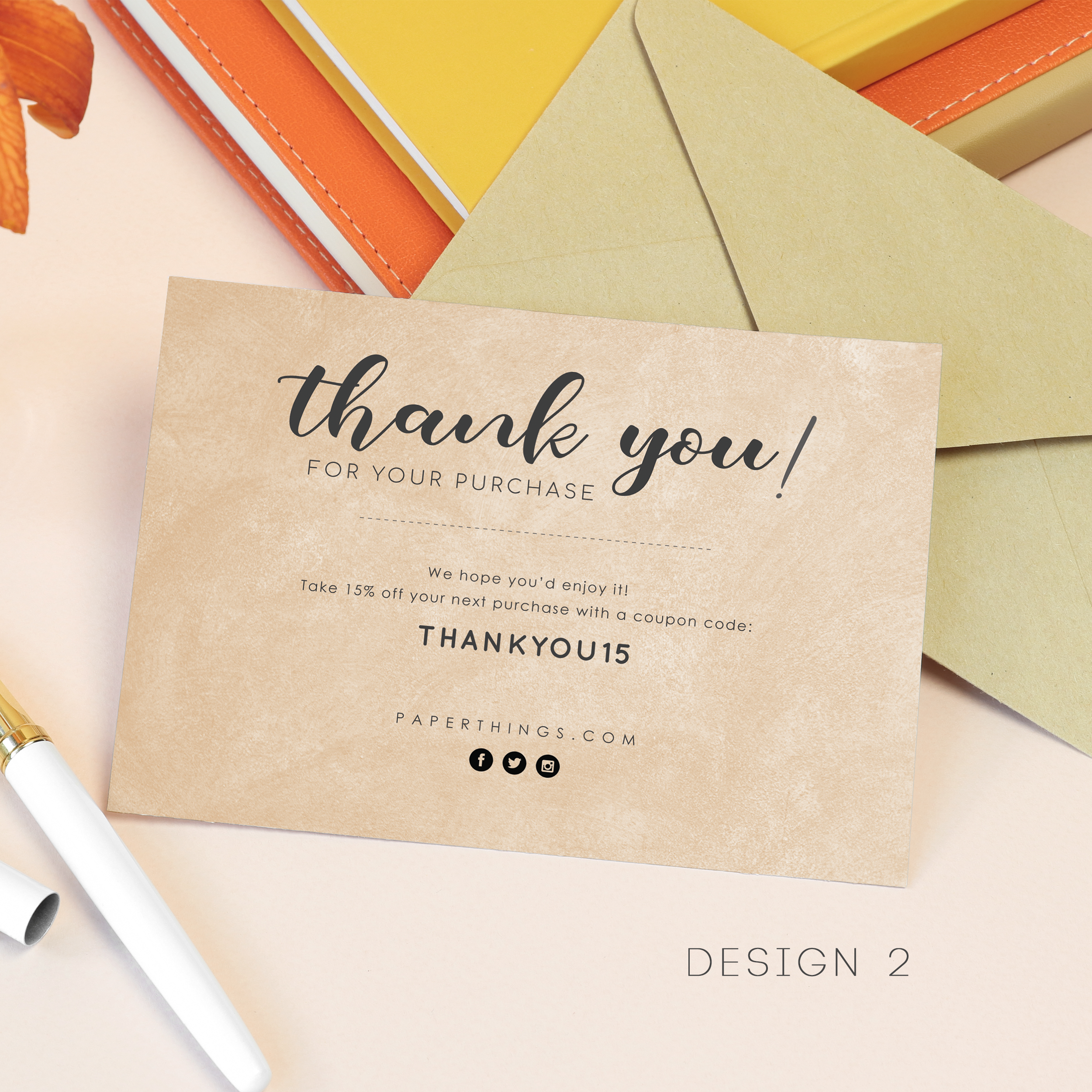 Personalised A6 Customer S Thank You Cards A6 Buyer S Thank You Note Kartu Nama Kartu Nama Bisnis Kartu