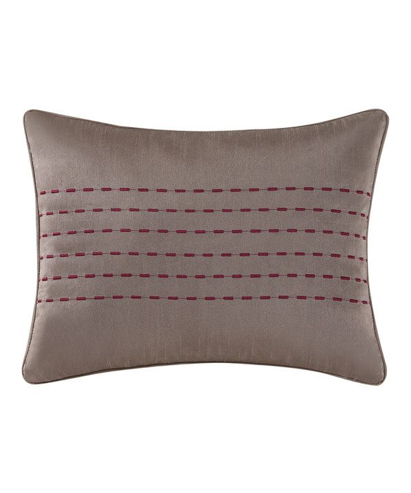 Look At This Tracy Porter Red Gigi Embroidered Faux Silk Throw Gorgeous Faux Silk Decorative Pillows