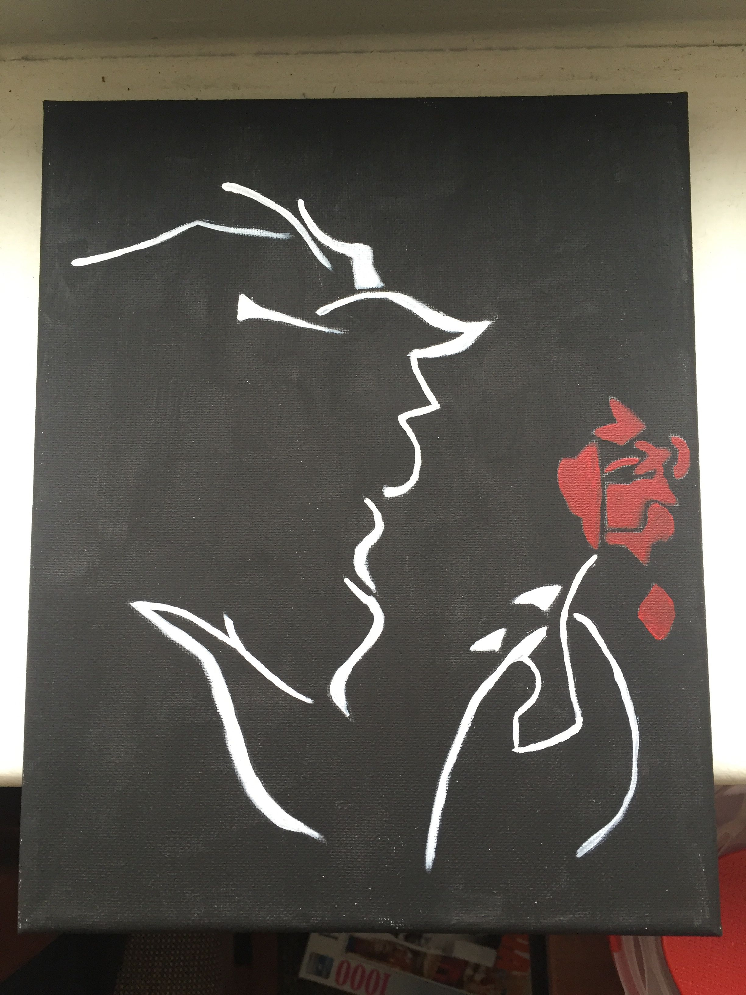 Beauty and the beast canvas painting my crafts Diy canvas painting designs