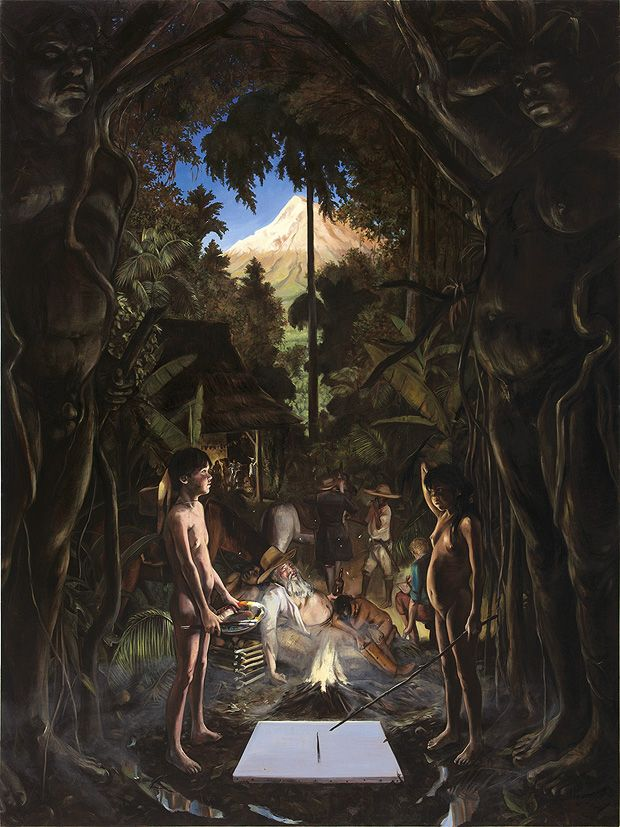 "Daniel Lezama ""Der Äquator (neuer Maler, neues Modell)""  , 2009"