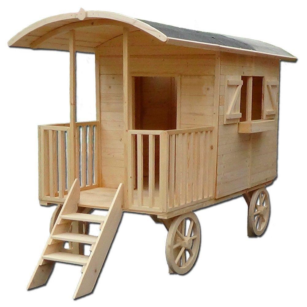 jeux d exterieur et de jardin pas cher gifi roulotte enfant roulotte en bois roulotte
