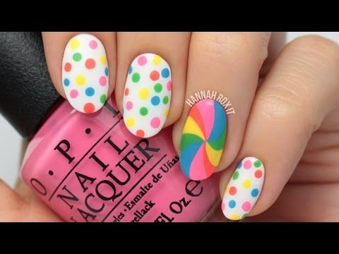 Candy Dot Lollipop Nail Art Youtube 4 The Luv Of Nail Art