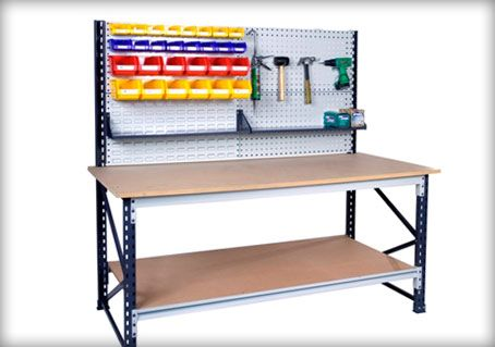 Workbench - Should be easy to DIY with some slotted angle