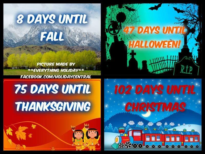 Days 'til... Fall halloween, Days until thanksgiving