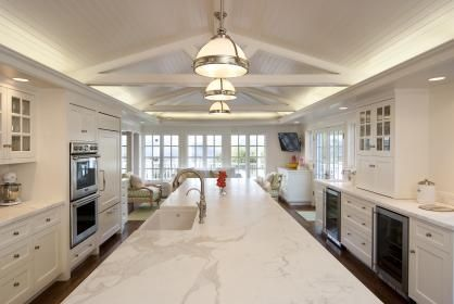 Pininterest White Kitchens White Island