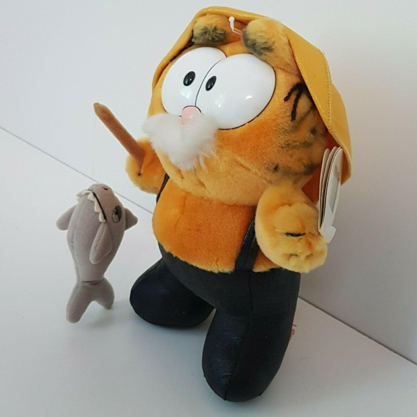 Vintage Garfield And Company Big Catch Plush Fisherman Fishing Toy Tags Dakin Ebay Vintage Toys Garfield Halloween Halloween Toys