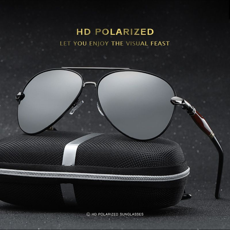 ... oculos de sol. 2017 new men Polarized Sunglasses,driver vintage retro sunglasses  men eyewear original brand designer male with logo sunglasses   ... b1308f6350