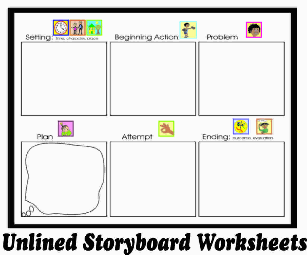 Story Planning Worksheets In With Images