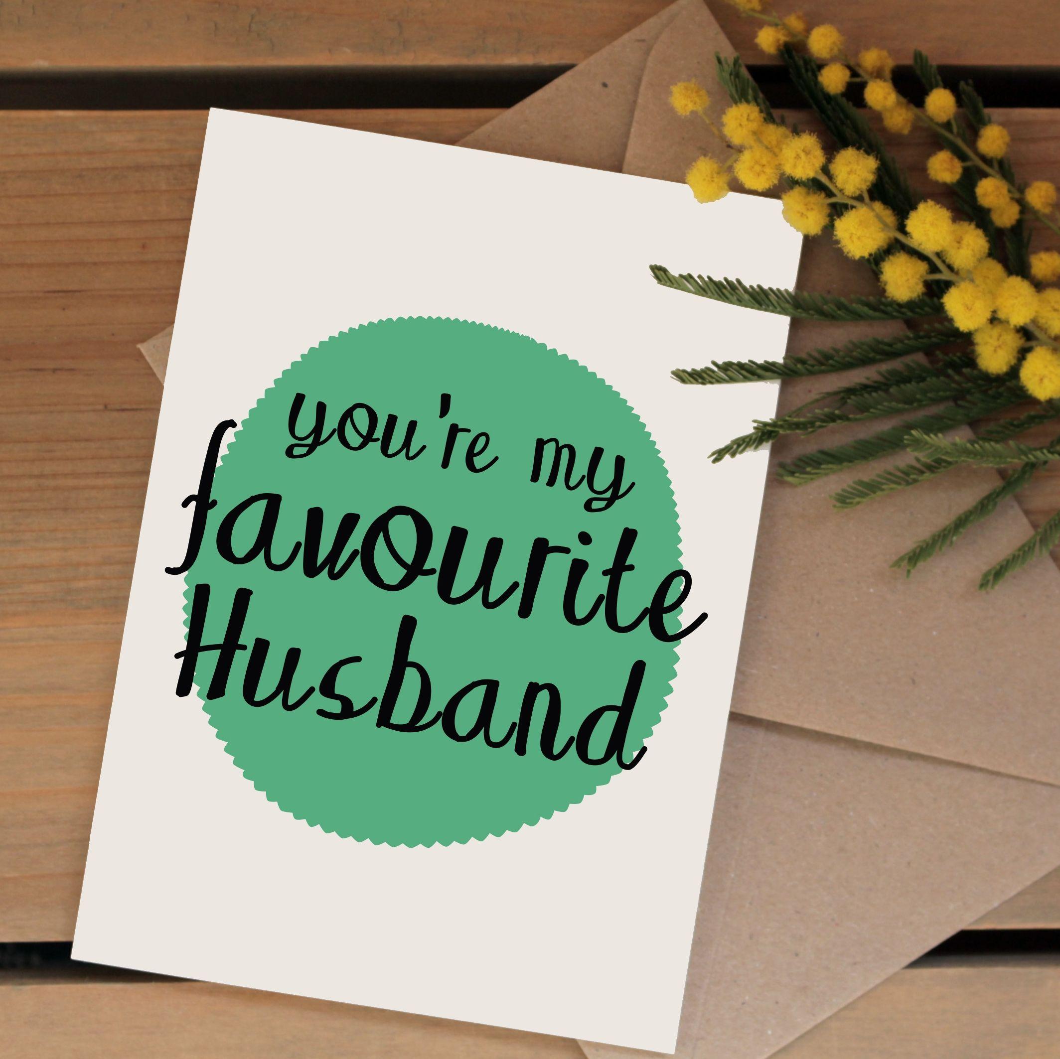 favourite husband card  hardtofind  valentines cards