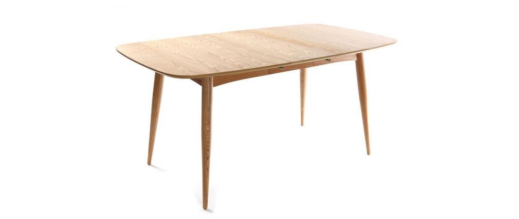 Table A Manger Extensible Frene Naturel Nordeco Miliboo Dimensions