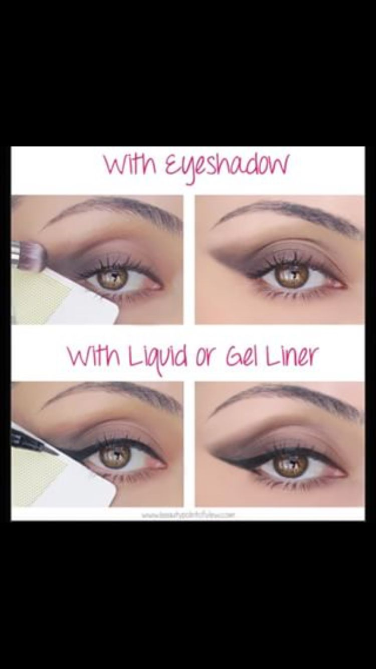 Tape trick for perfect eyeshadow!!  Eyeshadow, Eye makeup, Genius