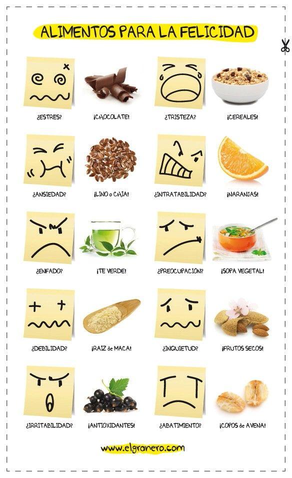 10 alimentos para diferentes emociones