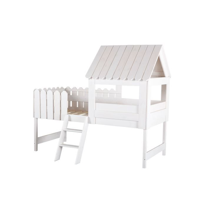 miliboo lit cabane enfant blanc little house. Black Bedroom Furniture Sets. Home Design Ideas