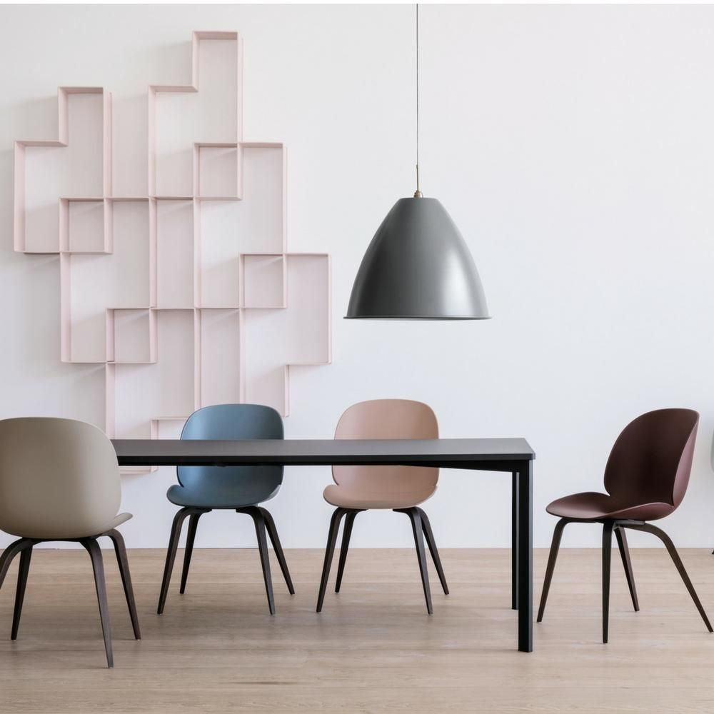 Gubi Beetle Dining Chair Unupholstered Conical Base Gubi Beetle Dining Chair Dining Chairs Wood Dining Chairs
