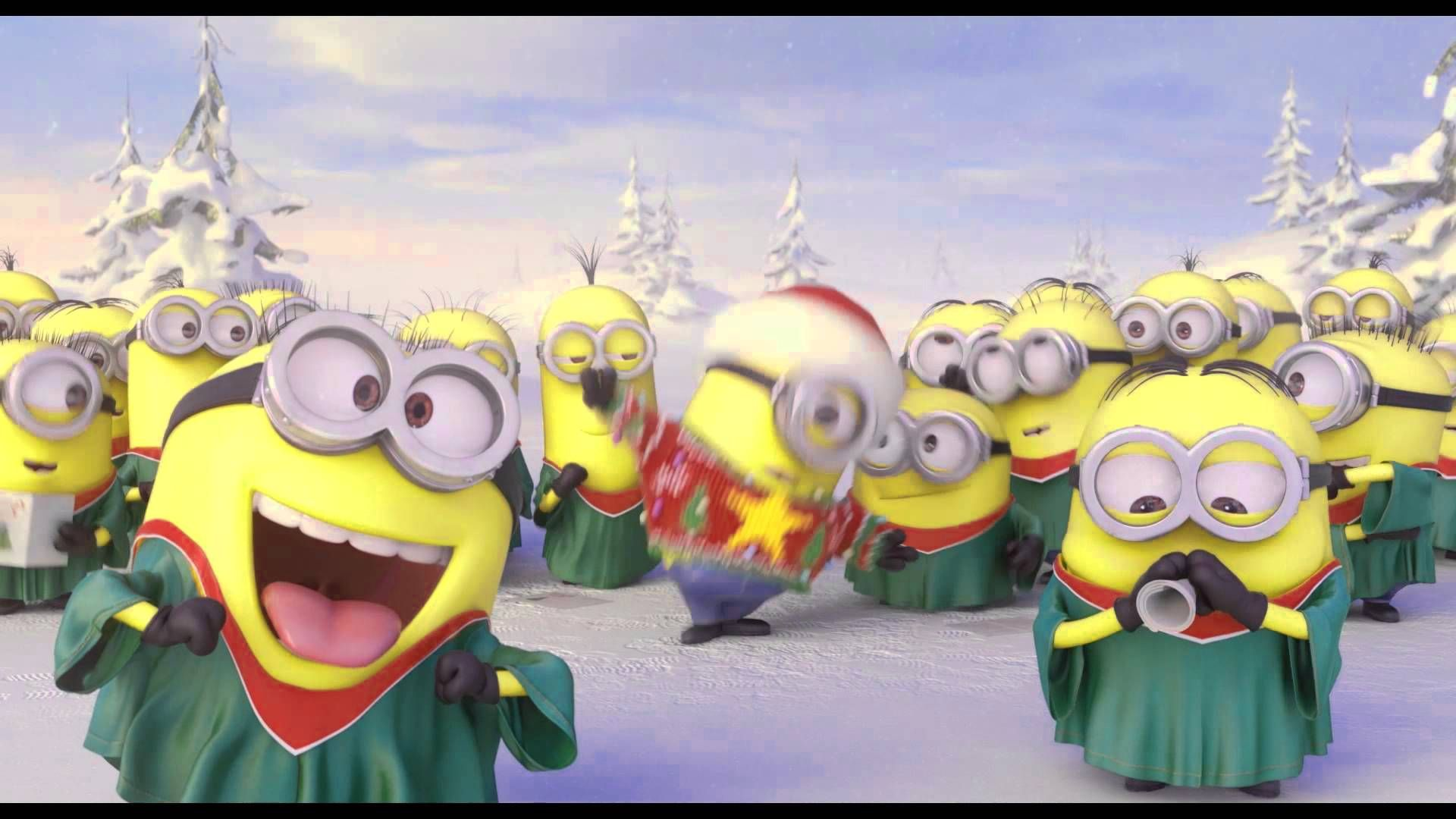 The minions from Despicable me will sing you Christmas carols ...