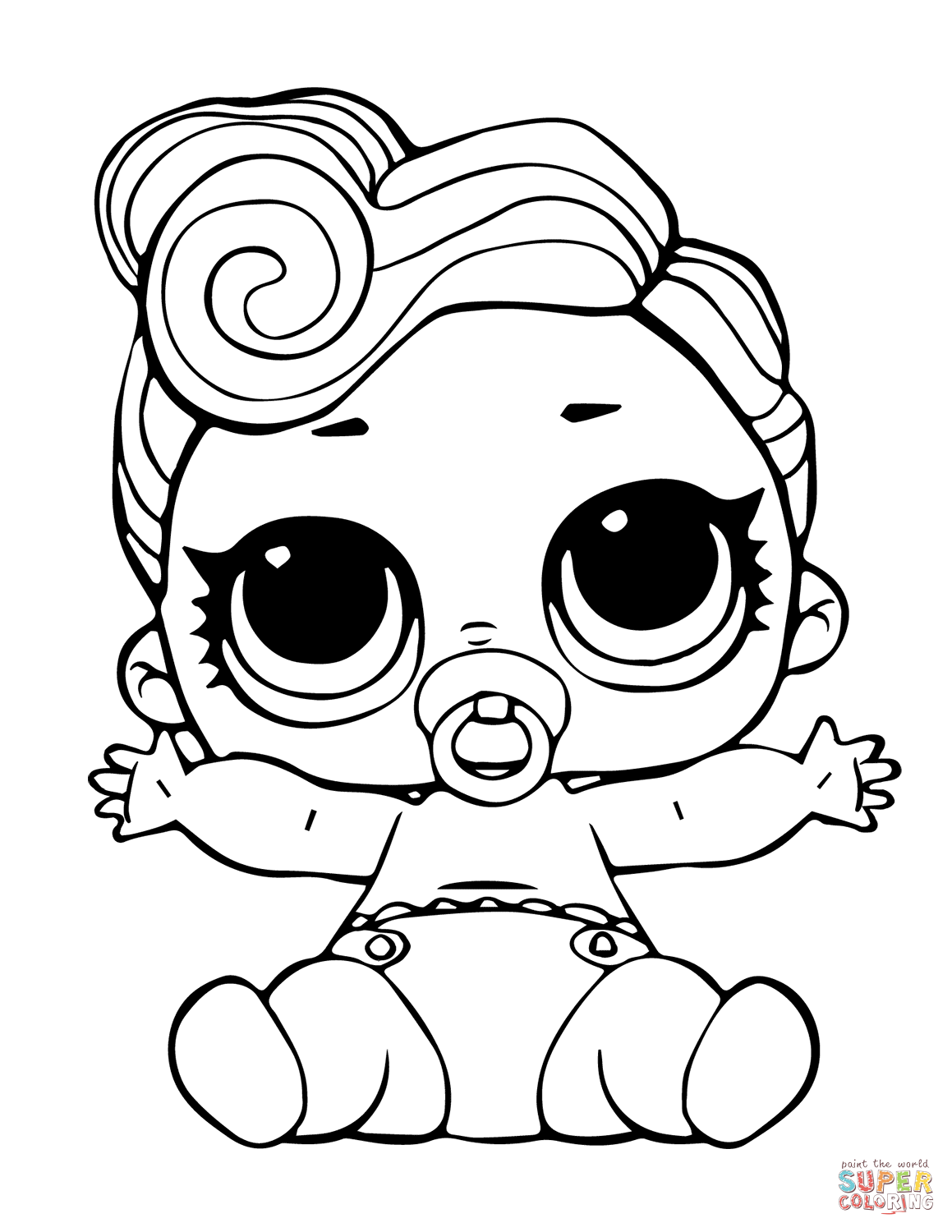 Lol Doll The Lil Queen Coloring Page Free Printable Coloring Pages Cartoon Coloring Pages Coloring Pages Designs Coloring Books