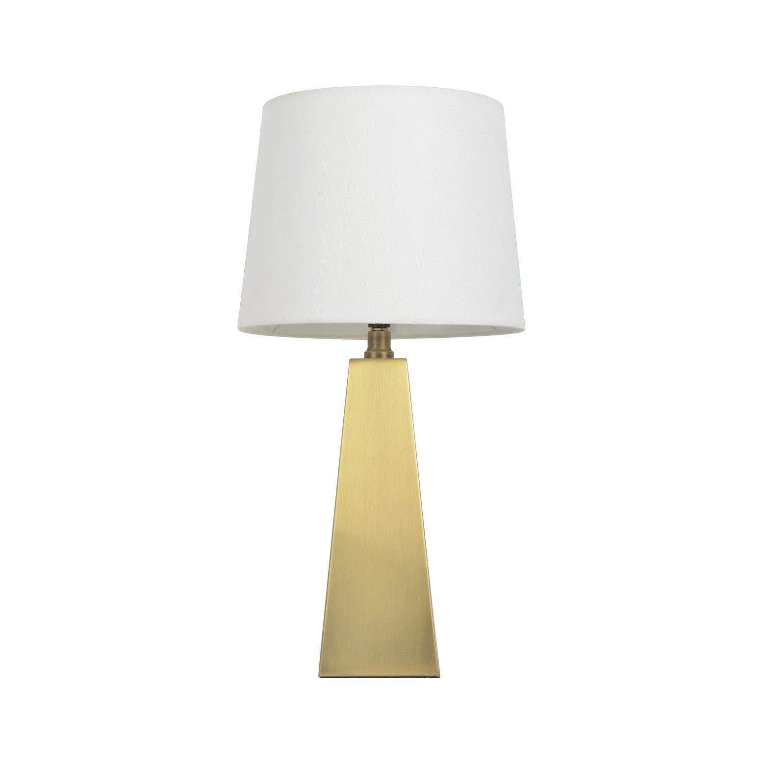 Its Smooth Lines And Stately Look The Metal Tapered Table Lamp Touch Control Gold From