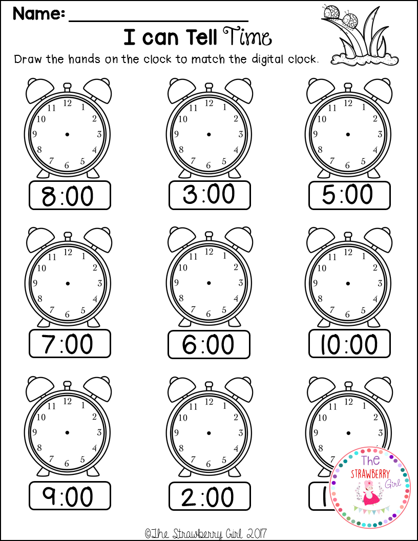 Kindergarten Math Worksheets - Spring   Spring math worksheets [ 1056 x 816 Pixel ]