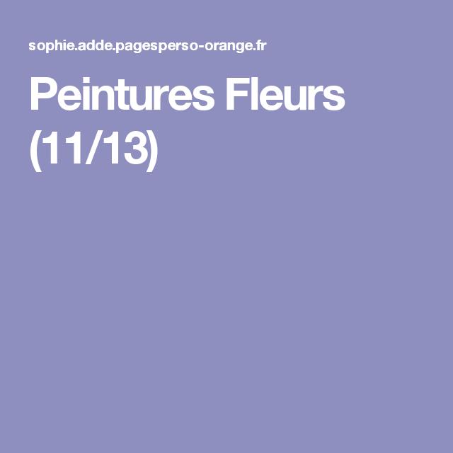 Peintures Fleurs (11/13)