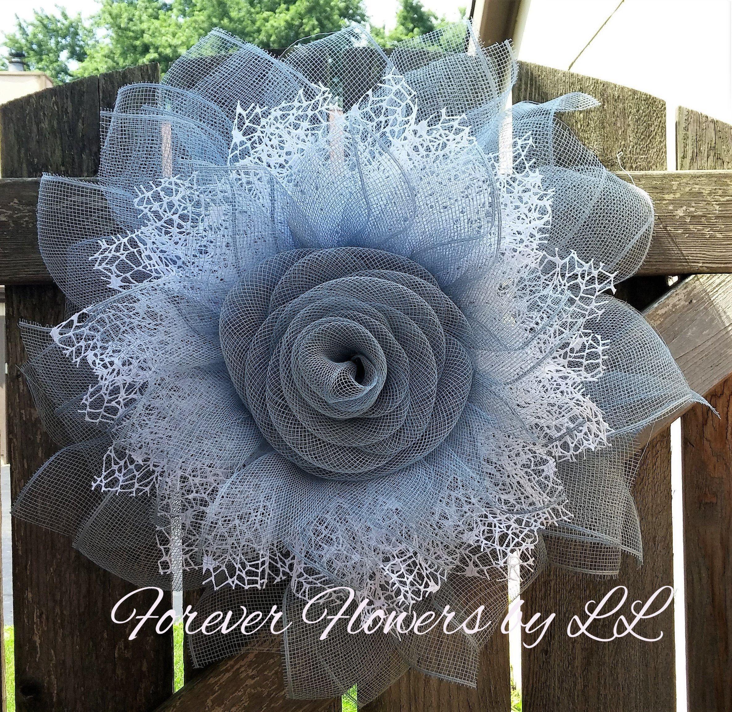 Photo of Burlap Wreath, Deco Mesh Wreath, Wreath, Front Door Wreath, Wall Decor, Summer Wreath, Flower Wreath, Deco Wreath, Spring Wreath