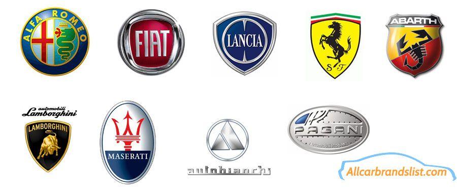 Italian Car Logos And Brand Names Italia Pinterest Car - Car signs and namescar logo logos pictures