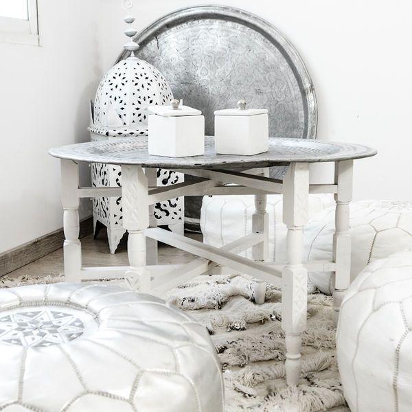 Marokkolainen Tarjotin  Ja Tarjotinjalat, 95cm | Zoco Home Moroccan Tray  Table