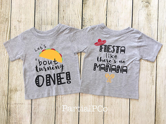 36aec6553 Let's TACO 'Bout Birthday Shirt | one, two, three, four, five, six, seven,  eight, nine, ten | Fiesta Like There's No Mañana | taco party | taco bar |  ...