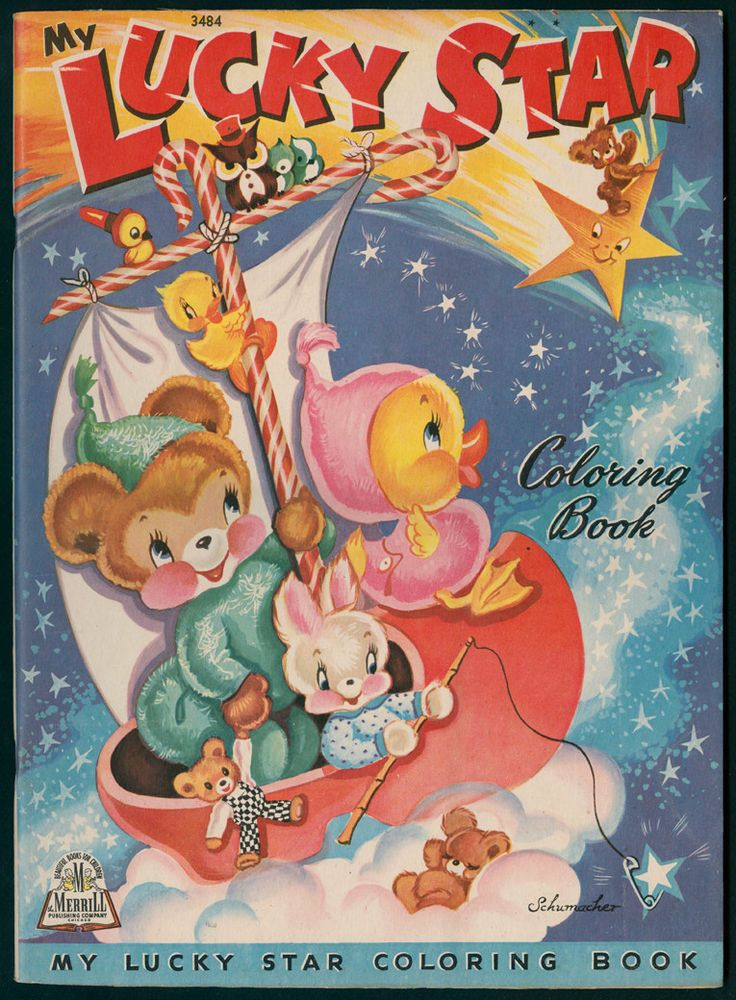 Merrill Archive Copy My Lucky Star Coloring Book 3484 1944