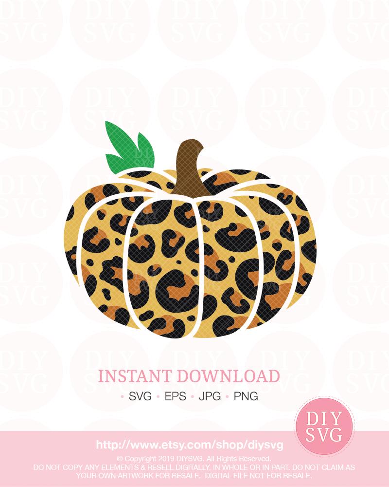 Leopard pumpkin svg leopard print pumpkin pumpkin svg