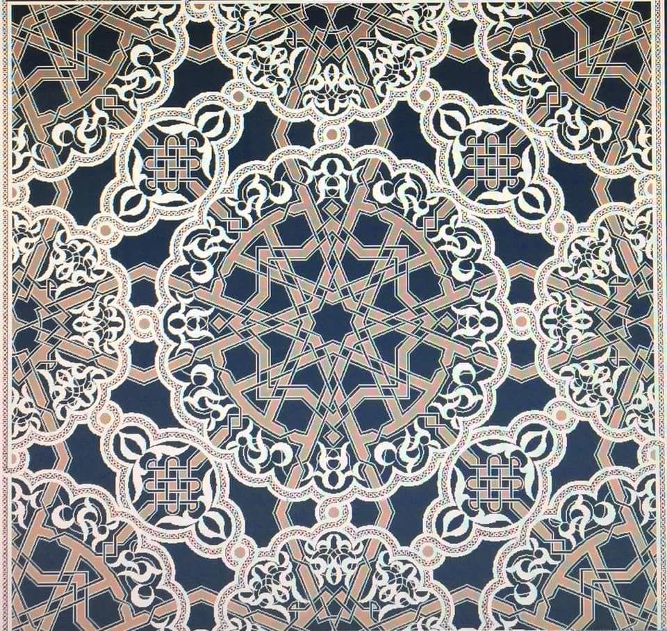 زخرفة هندسية نباتية Islamic Motifs Design Art Decor
