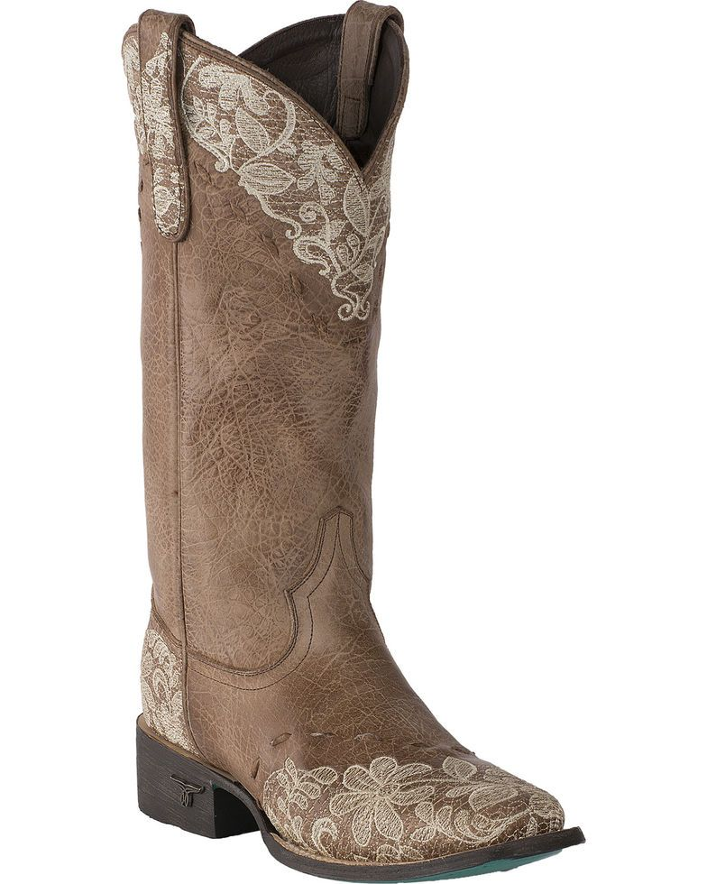 dfa136cbb21 Lane Women's Jeni Lace Embroidered Cowgirl Boots - Square Toe ...