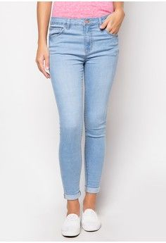 b6583e7e559d Styled Light Wash Mid-Rise Skinny from Penshoppe in blue_1 ...