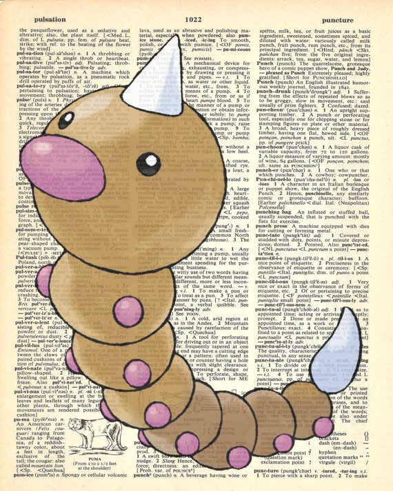 Weedle Pokemon Dictionary Art Print by MollyMuffinsPrints on Etsy