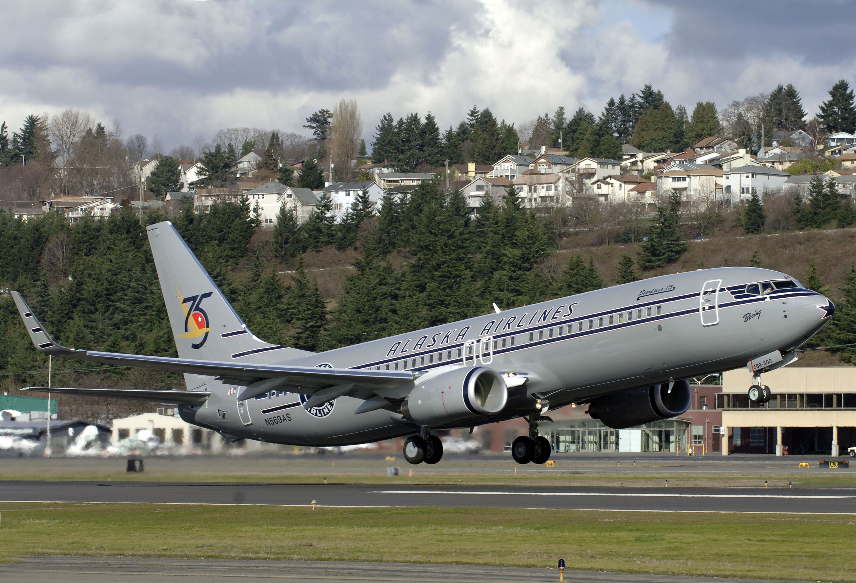 Alaska Airlines' specialty vintage throwback livery to
