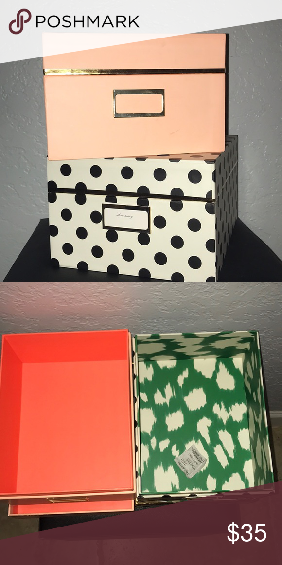 Kate Spade Nesting Storage Boxes Nwt Storage Boxes