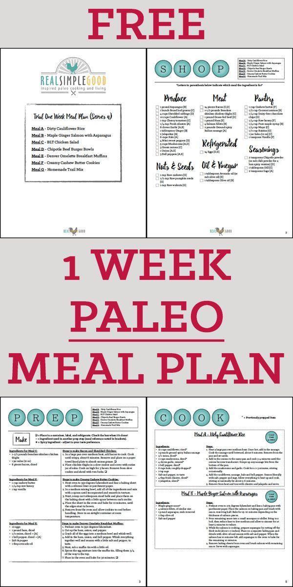 Einwöchiger Paleo-Verpflegungsplan   – ! A Permanent Health Kick ! – Healthy Recipes and Fitness Community