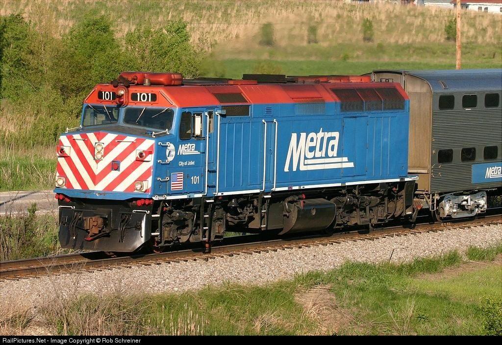 RailPictures.Net Photo: METX 101 Metra EMD F40PH at Libertyville, Illinois by Rob Schreiner